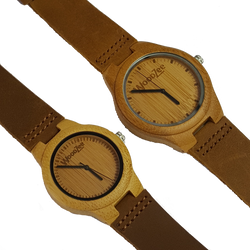 love birds - woodzee za - wooden watch - bamboo watch - couples watch