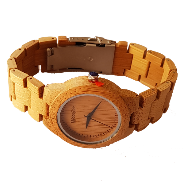 Miss Bamboo - Wooden Bamboo Watch With Wood Links - WoodZee ZA - Bamboo Watch