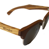 Metal / Zebra Wood Sunglasses - Polarized Sunglasses - WoodZee ZA - Zebra wood sunglasses