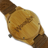 Triangle Express - Wooden Bamboo Watch With Leather Strap - WoodZee ZA - Bamboo Watch