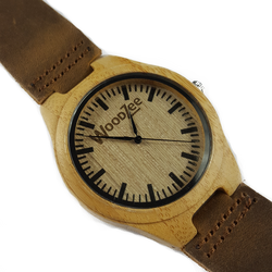 Bold & Beautiful - Wooden Bamboo Watch With Leather Strap - WoodZee ZA - Bamboo Watch