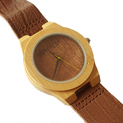 Bobo Bird - Wooden Bamboo Watch With Leather Strap - WoodZee ZA - Bamboo Watch