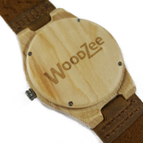 The Pretty One - Wooden Watch With Brown Leather Strap - WoodZee ZA - Pine Watch