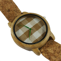 Check Me Out - Wooden Watch With Cork Strap - WoodZee ZA - Bamboo Watch