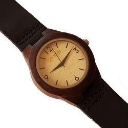 Dark Lady - Wooden Ebony Ladies Watch With Leather Strap