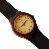 Dark Lady - Wooden Ebony Ladies Watch With Leather Strap - WoodZee ZA - Ebony Watch