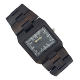 Kong - Wooden Ebony Watch With Wood Links - WoodZee ZA - Ebony Watch