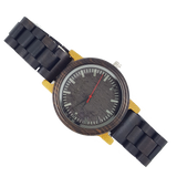 The Dark Night - Bamboo And Ebony Watch With Wood Links - WoodZee ZA - Ebony Watch