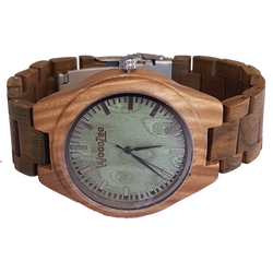 Green Fever - Wooden Greenwood Watch With Wood Links - WoodZee ZA - Greenwood