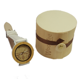 Lady Like - Bamboo Watch With White Leather Strap - WoodZee ZA - Wooden Watch