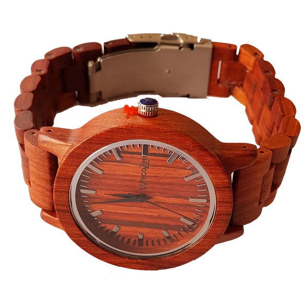 The Emperor - Wooden Rose-Wood Watch With Wooden Links - WoodZee ZA - Rosewood
