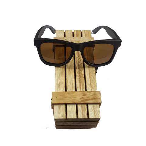 Ebony Sunglasses Brown - Wooden Ebony Sunglasses With Polarized Brown Lenses - WoodZee ZA - Ebony Sunglasses
