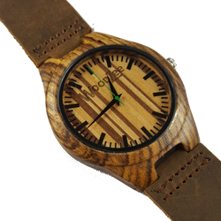 Racing Stripes - WoodZee ZA - wooden watch - zebra wood
