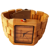 Colossal - Bamboo Watch With Wooden Links - WoodZee ZA - Bamboo Watch
