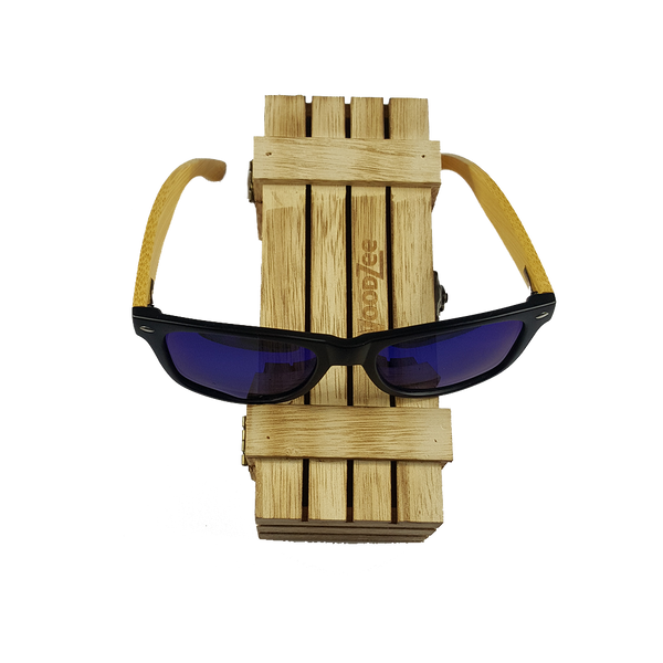 Bamboo Sunglasses Blue - Wooden Bamboo Sunglasses - WoodZee ZA - Bamboo Sunglasses