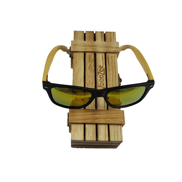 Bamboo Sunglasses Yellow - Wooden Bamboo Sunglasses - WoodZee ZA - Bamboo Sunglasses