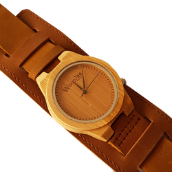 Bad Boy - Wooden Maple Watch With Leather Strap