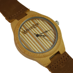 maple wood - wooden watch - woodzee za - leather strap