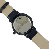 Insider - Wooden Ebony Watch With Black Leather Strap - WoodZee ZA - Ebony Watch