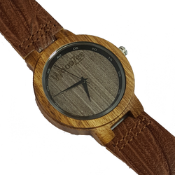woodzee za - wooden watch - zebra wood -  watch
