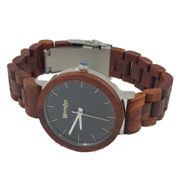 The Prince - Rose-Wood Watch With Wooden Links - WoodZee ZA - Rosewood