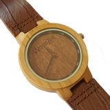 Wood Chip - Wooden Bamboo Watch With Leather Strap - WoodZee ZA - Bamboo Watch