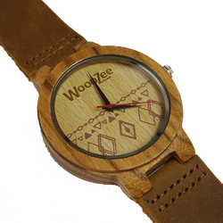 woodzee watch - wooden watch - woodzee za - zebra wood