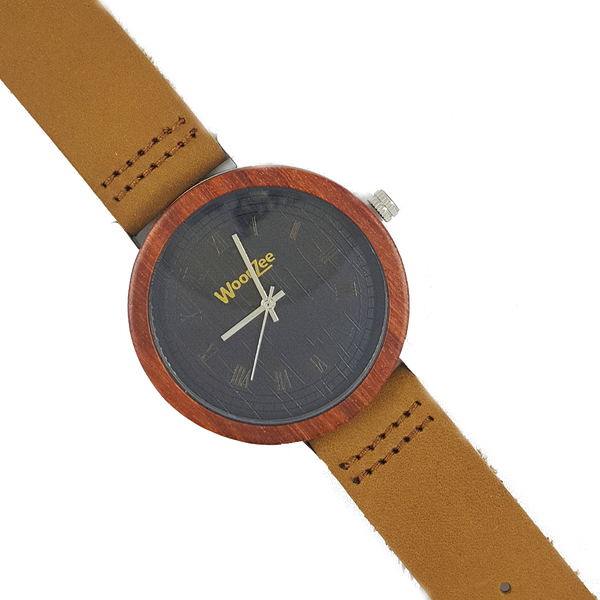 When In Rome - Wooden Rose-wood Watch With Light Brown Strap - WoodZee ZA - Rosewood