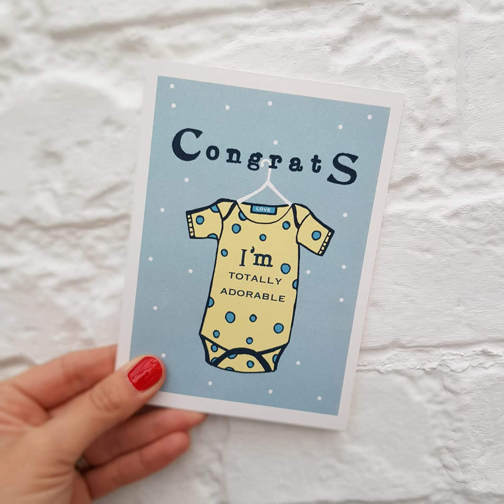 Adorable Baby Boy Card