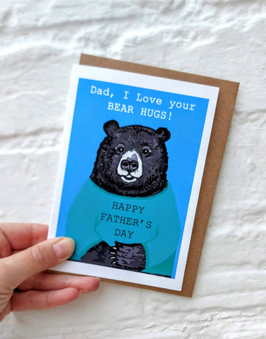 Dad, I love your bear hugs Card