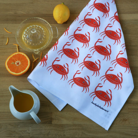 Coastal Crab Tea towel