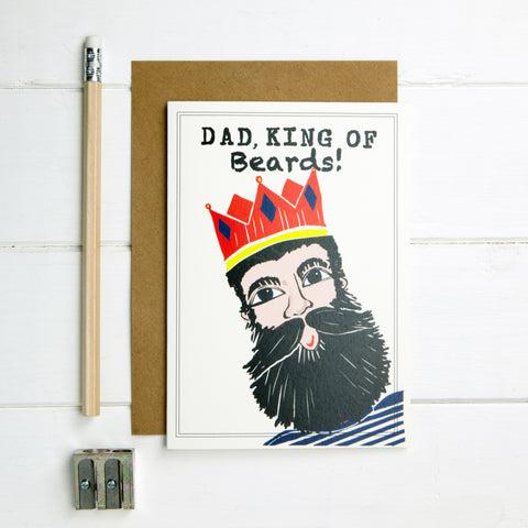 Dad, King of Beards Card