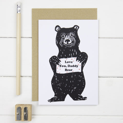 Father's Day Daddy Bear card