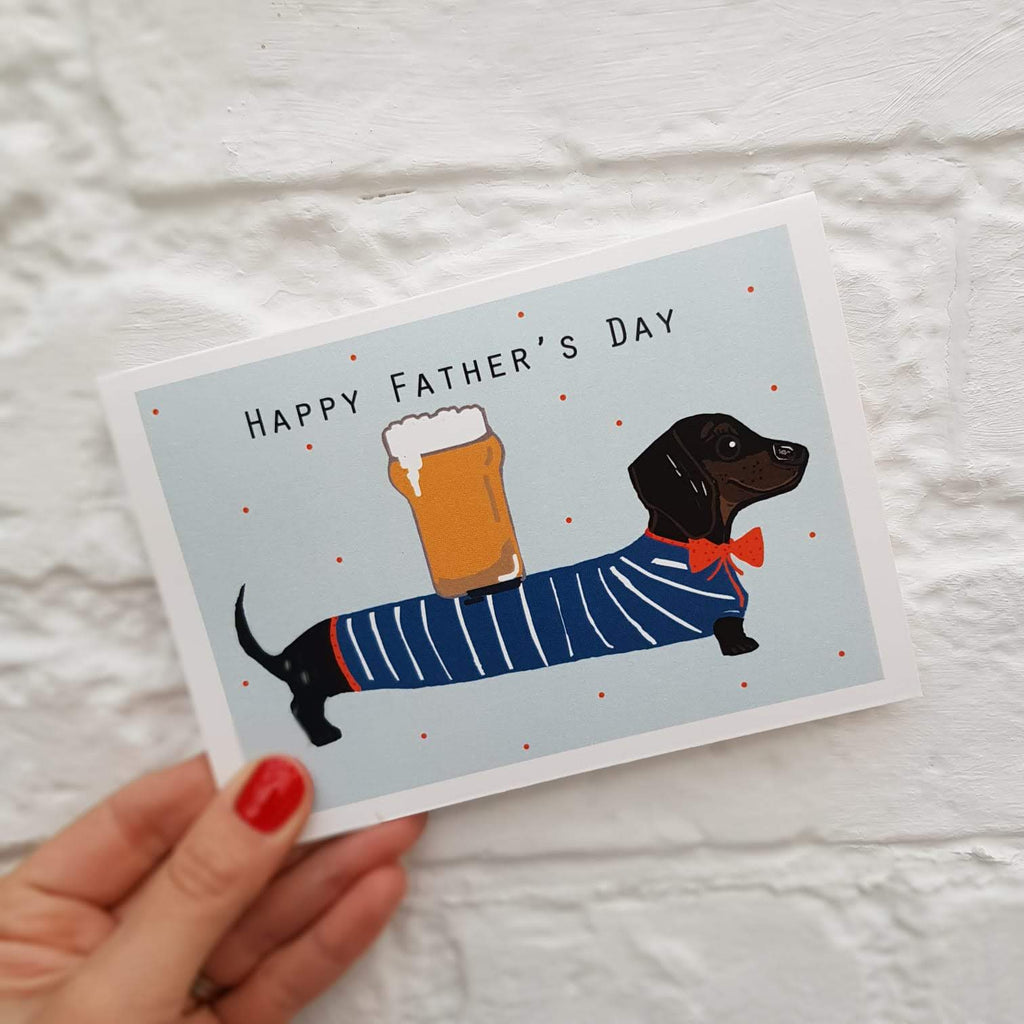 Happy Father's day Dachshund Card