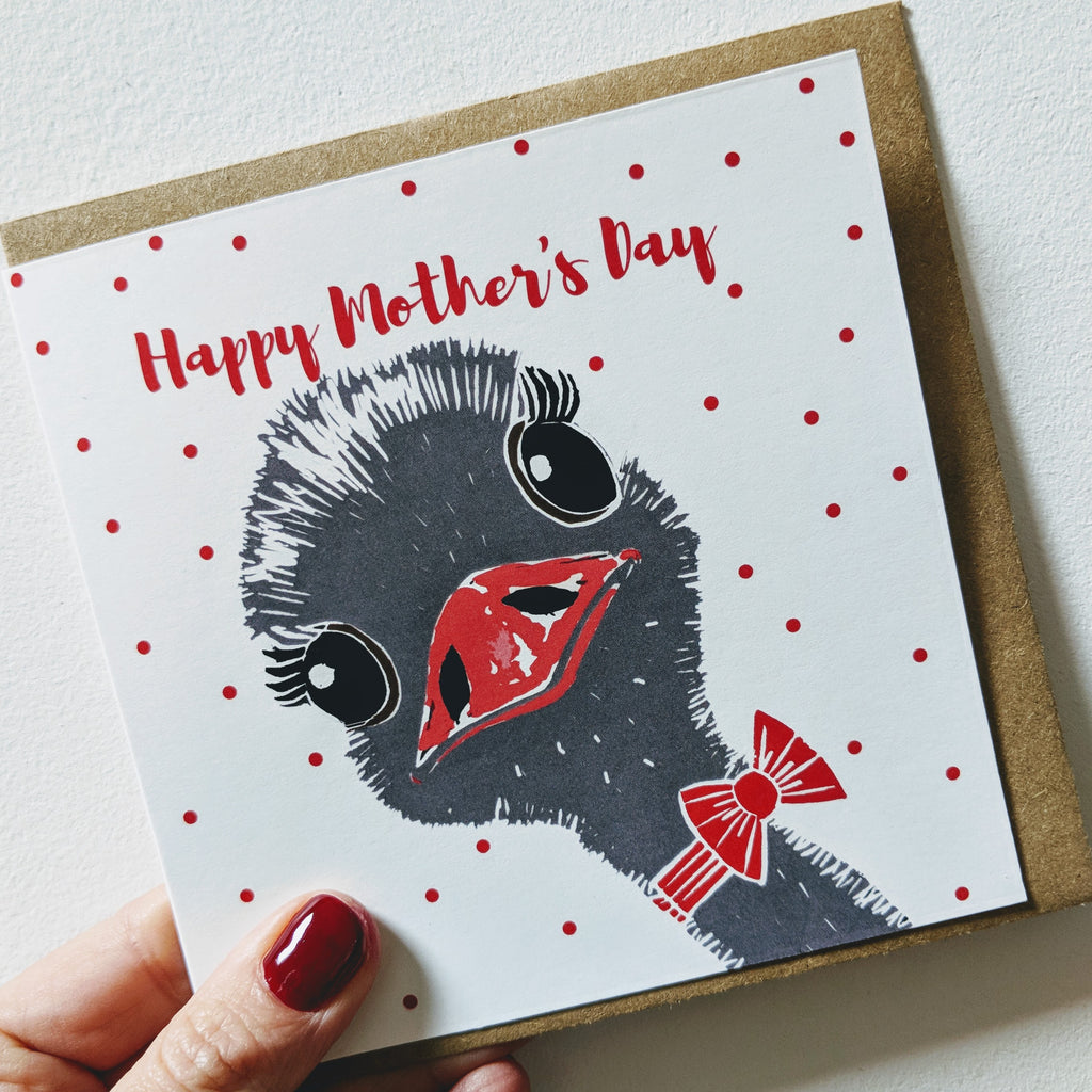 Mother's Day Ostrich Card