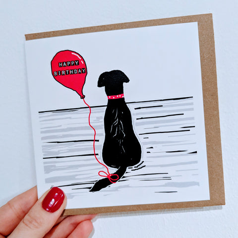 Happy Birthday Black Labrador Card