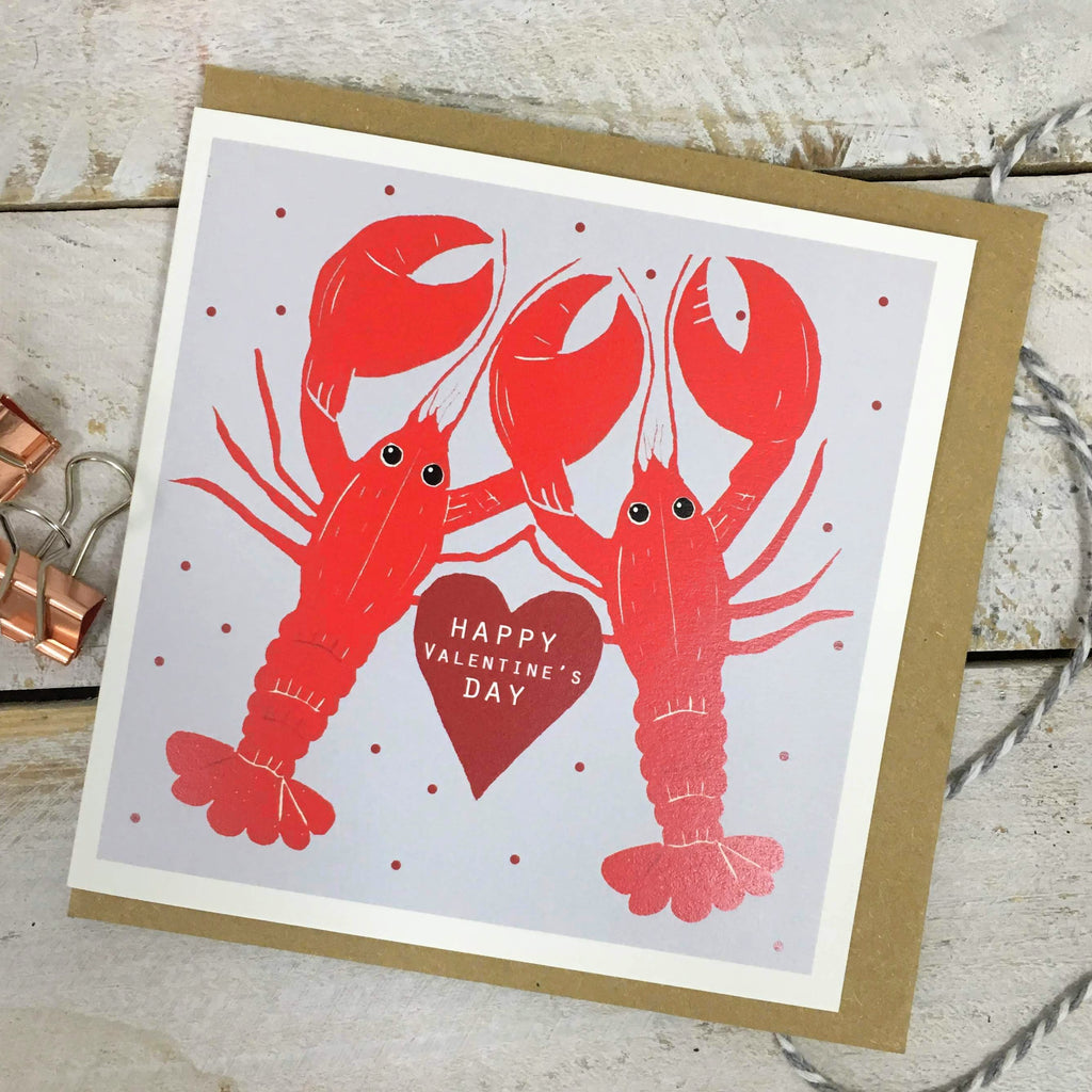 Valentine Lobster Card