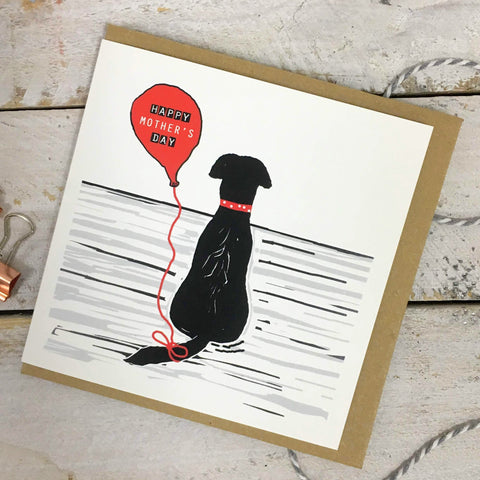 Happy Mother's Day Black Labrador Card
