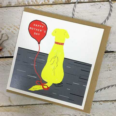 Happy Mother's Day Yellow Labrador Card