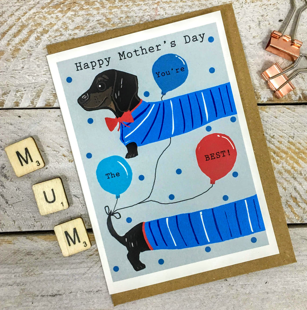 Dachshund Mother's Day Card