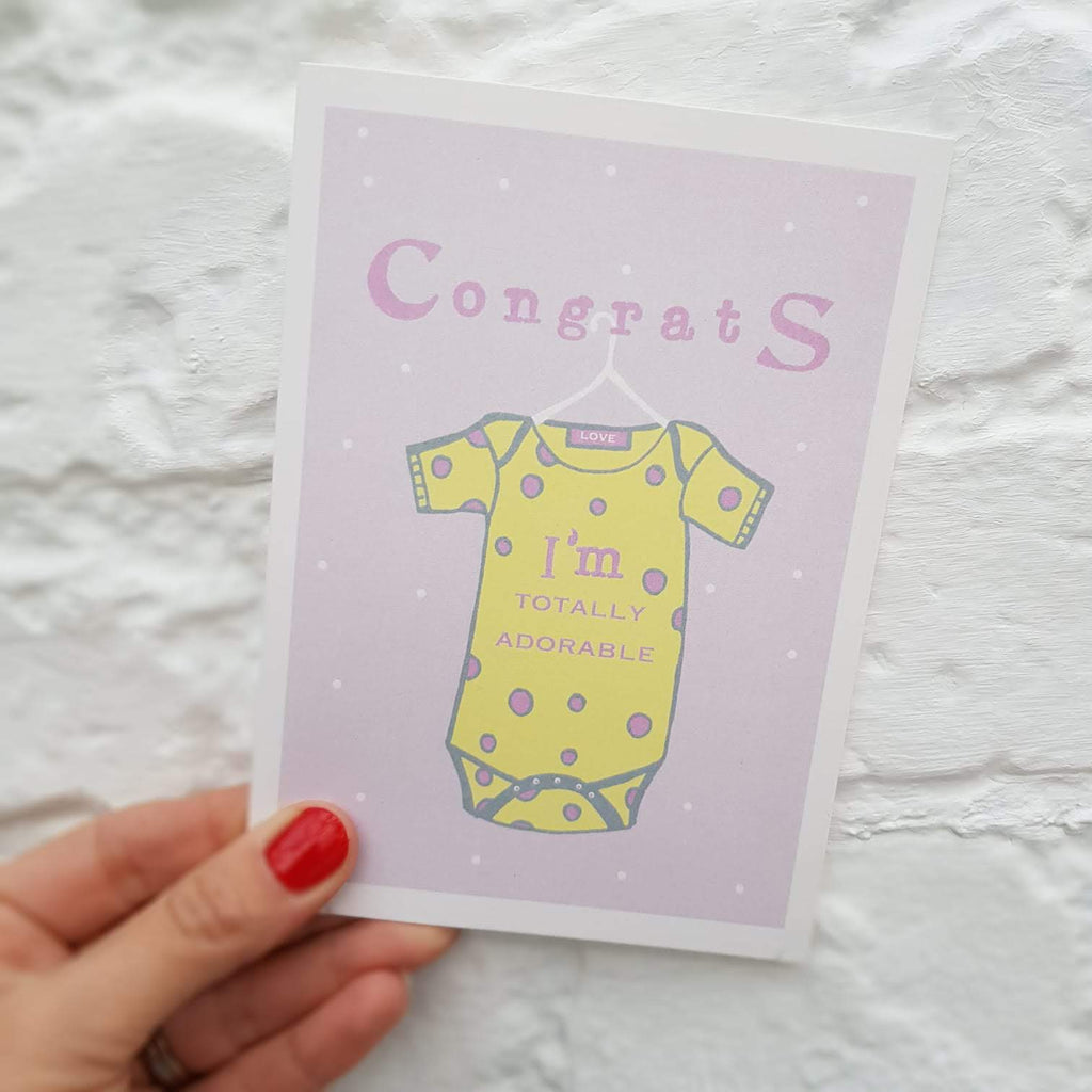 Adorable Baby Girl Card