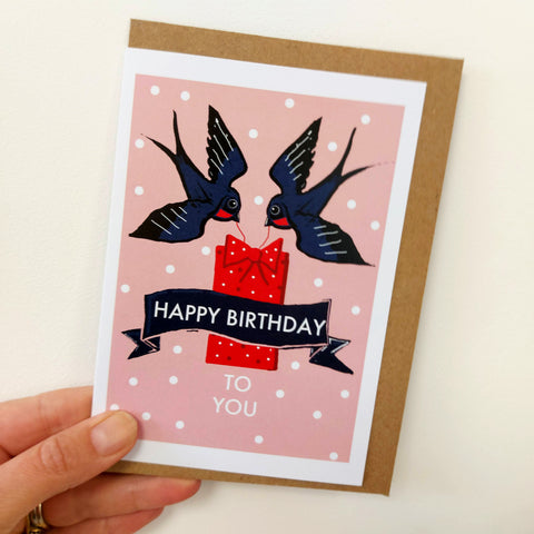 Happy Birthday Birdies card