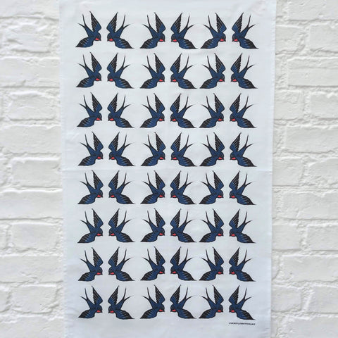 Blue Bird Tea towel