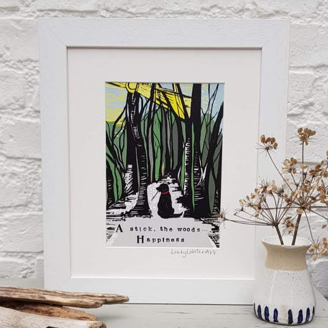 Countryside Dog Print (Green & Black)