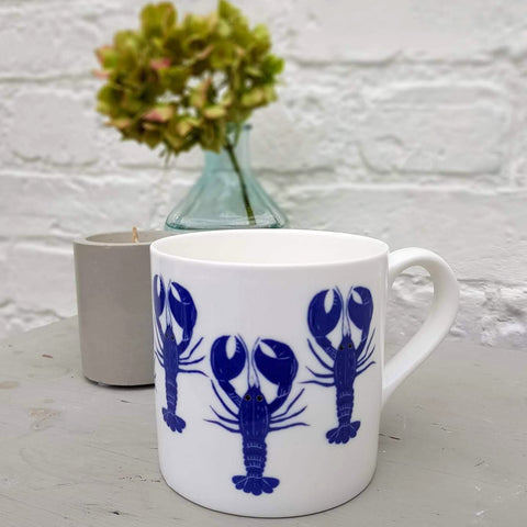 Blue Lobster Mug