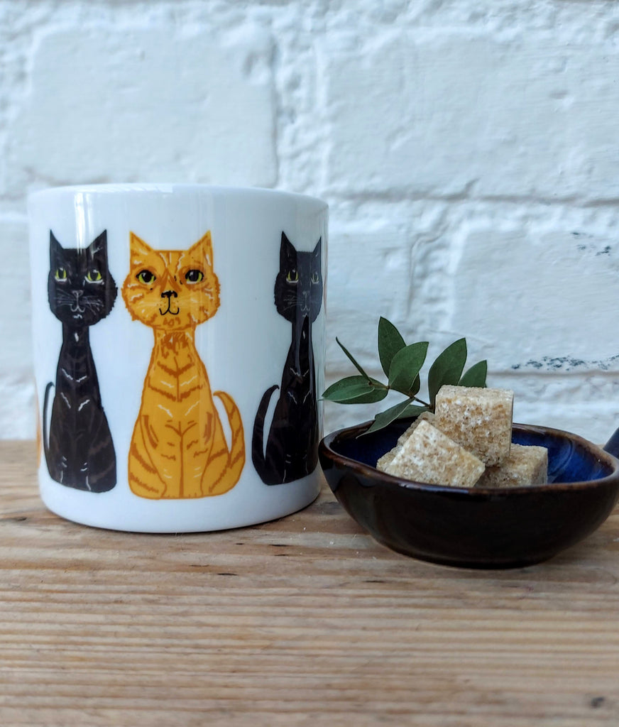 Ginger & Black Cat Mug