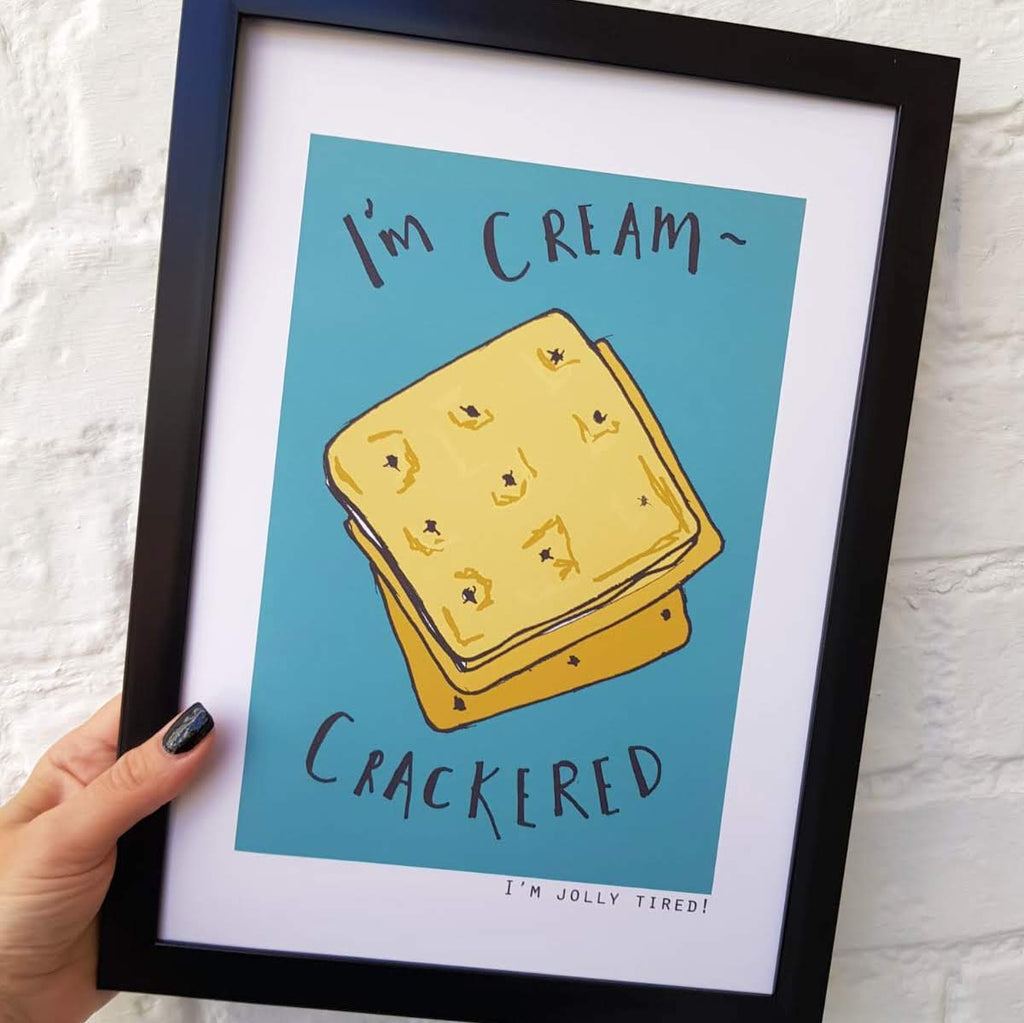 British Phrase- I'm Cream Crackered