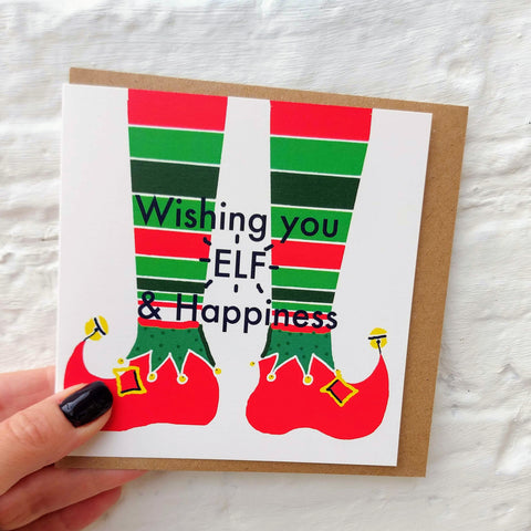 Wishing 'Elf' & Happiness card