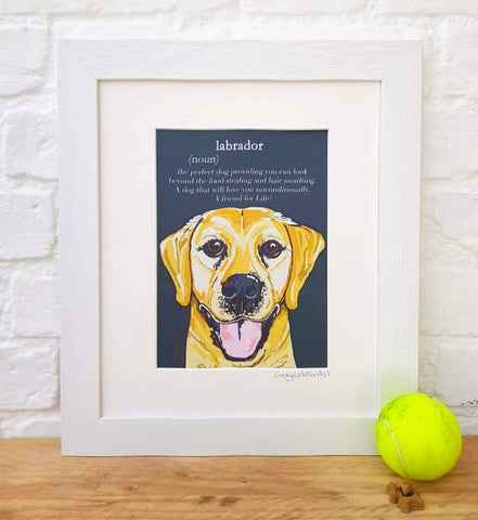 Golden Labrador 'Dictionary Dogs'
