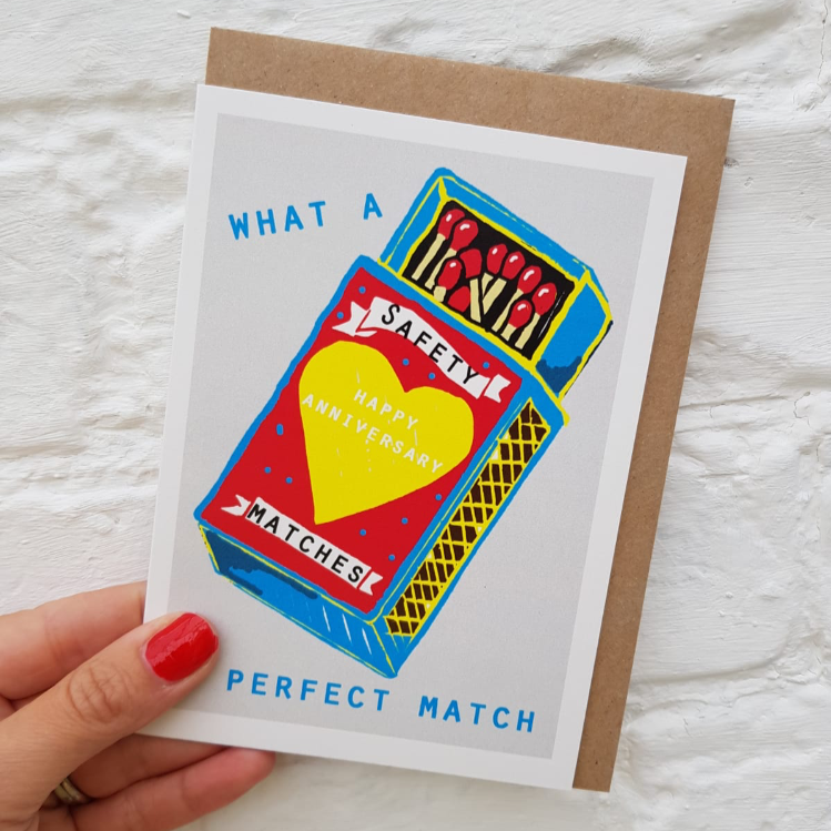 Happy Anniversary - A perfect match card